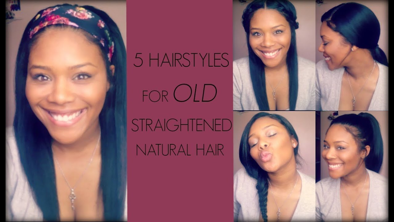 style my natural hair 5 hairstyles for straightened hair melodie 5984 | maxresdefault