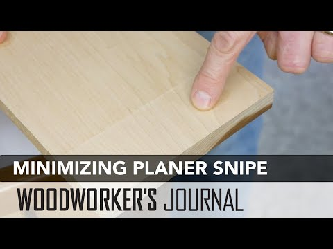 How to Minimize Thickness Planer Snipe