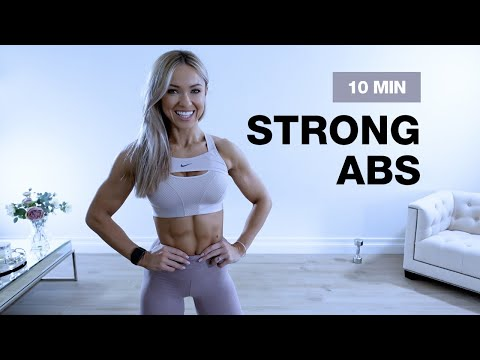 10 MIN STRONG ABS & CORE WORKOUT with Dumbbell | Caroline Girvan