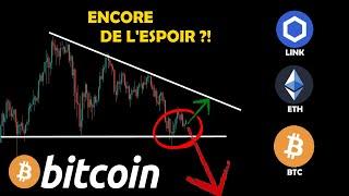 BITCOIN 🤔 ÉNORME CHUTE OU RANGE À VENIR ?! + ETHEREUM / CHAINLINK 🚀 analyse crypto monnaie fr