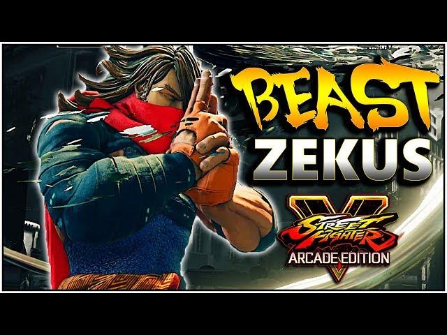 SFV AE - Beast Zekus | FT. Unsung (#1 Zeku ) & Friends | Compilation - SF5