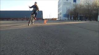 """Катание с папой на велосипеде """"Клип""""."""