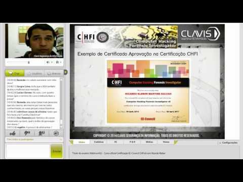 [HD] Webinar #22 - CHFI v8 - Certificação Computer Hacking Forensic Investigator