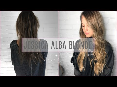 JESSICA ALBA BLONDE | mixing highlights and balayage