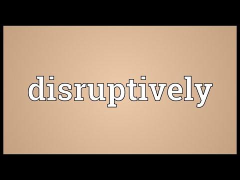 Header of disruptively