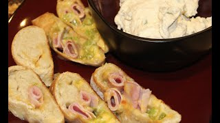 Appetizers / Ham  & Chesse Bites With Cheesy Dip Recipe / Cheryls Home Cooking