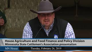 House Agriculture and Food Finance and Policy Division  2/26/19