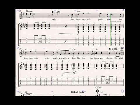 The Beatles - She Loves You - Guitar TABs