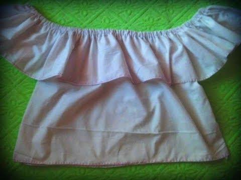 como hacer una blusa de niña facil