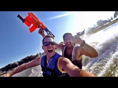 Nerf Blasters: Lake House Edition | Dude Perfect