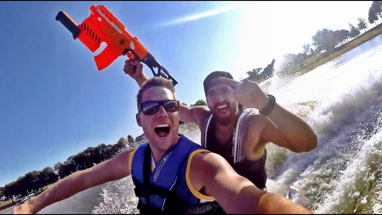 nerf blasters lake house edition dude perfect youtube