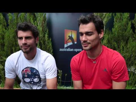 Melbourne 2015 Thursday Bolelli Fognini Interview