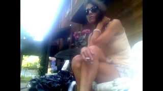 Ashley Joy smoking OUTSIDE  AND flicking cig