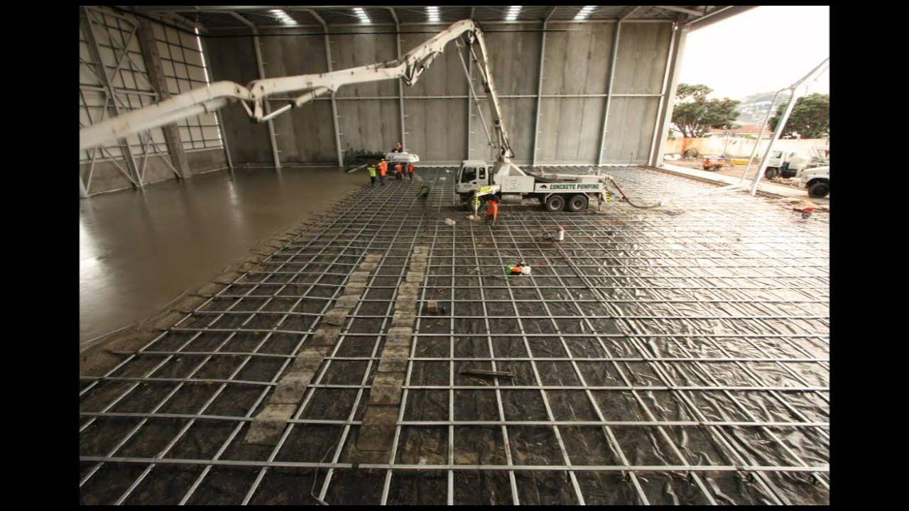 Firths amazing posttension floor slab timelapse video