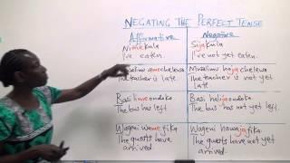 """Swahili Grammar: The tense """"me"""" with """"mesha"""""""