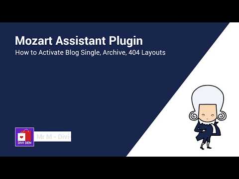 How to Activate Blog Single, Archive, 404 Layouts - Divi Theme Layout Pack - Mozart