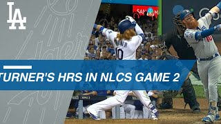 Turner hits clutch NLCS Game 2 homers in '17 and '18