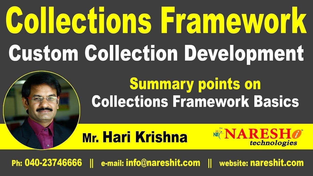 Summary points on collections framework basics core java summary points on collections framework basics core java tutorial mr hari krishna baditri Image collections