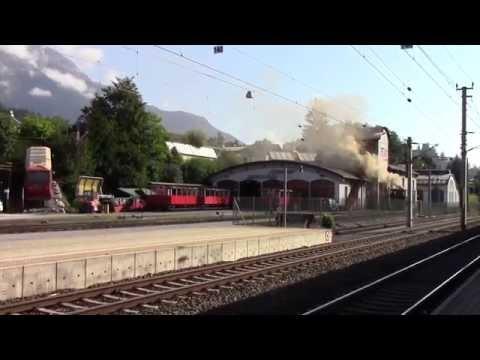 Jenbach Railway Station Tyrol Austria Bahnhof Jenbach in Tirol Österreich