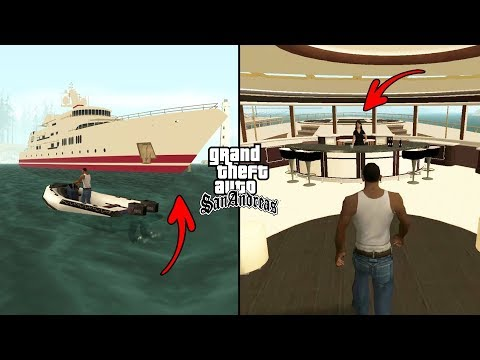 Secret Yacht On The Sea In GTA San Andreas! (Boat Cheat Code)