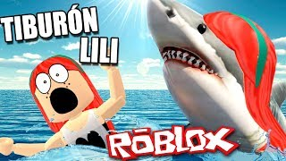 THE LILI OS TIBURON WANTS TO EAT!!! 🦈? ROBLOX in Spanish - Shark Bite