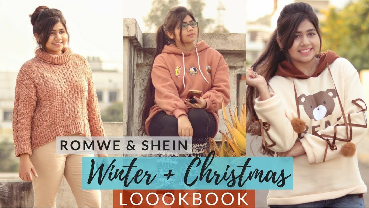 LookBook: Winter+Christmas Outfit Ideas | Romwe+Shein | How to Style Over-Sized sweater | Shweta