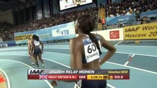 4х400м Финал Женщины - ЧМ в помещении Стамбул 2012