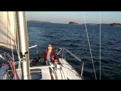 Beam reach on a Beneteau First 260