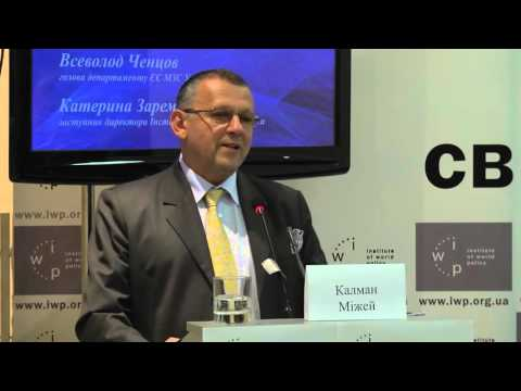 EUAM's Head of Mission, Kalman Mizsei at the Institute of World Policy in Ukraine