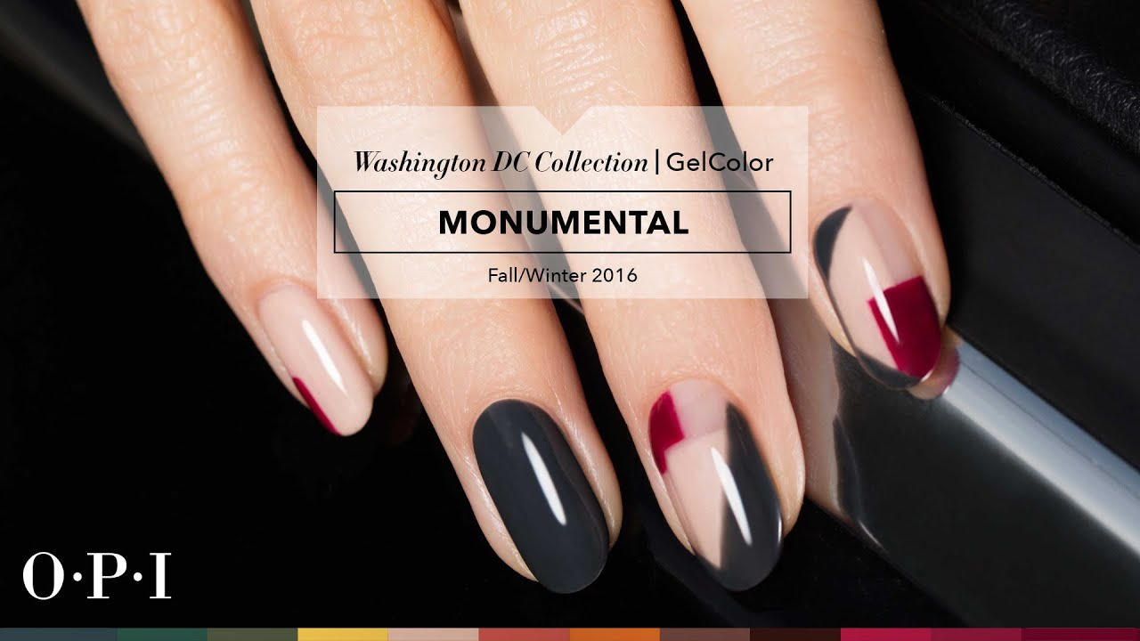 OPI GelColor Tutorial | Washington DC Collection | Monumental - YouTube