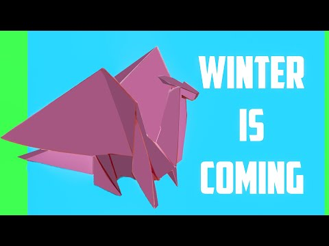 Origami Easy Dragon from Game of Thrones - How To Make a paper dragon by Devlin Fox