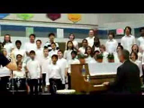Ian Lane singing with Mosby Woods Elementary School Choirs