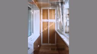 Раздвижной алюминиевый шкаф на балкон от