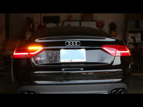 Audi A5, S5 Post-Facelift LED Taillight Package w/ Fog Light Upgrade and Semi-Dynamic Turn Signals