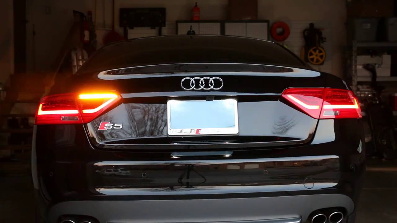 Audi Q 5 >> Audi A5, S5 Post-Facelift LED Taillight Package w/ Fog Light Upgrade and Semi-Dynamic Turn ...