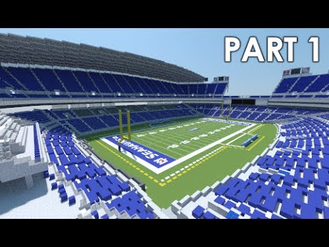 Minecraft Stadium Centurylink Field Seattle Seahawks Sounders Part 1 Official Youtube