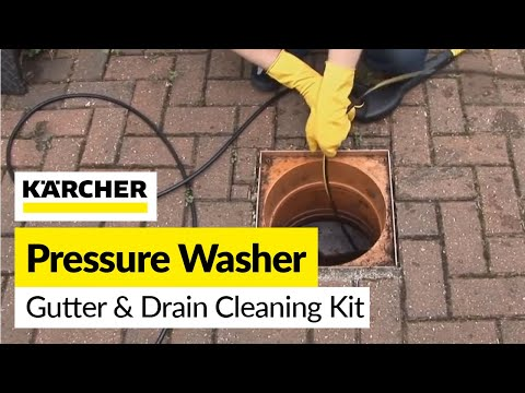 Karcher Gutter and Drain Cleaning Kit