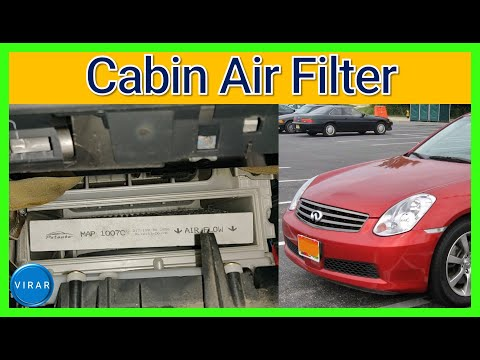 How to Replace Cabin Air Filter – Infiniti G35 (2003-2006)