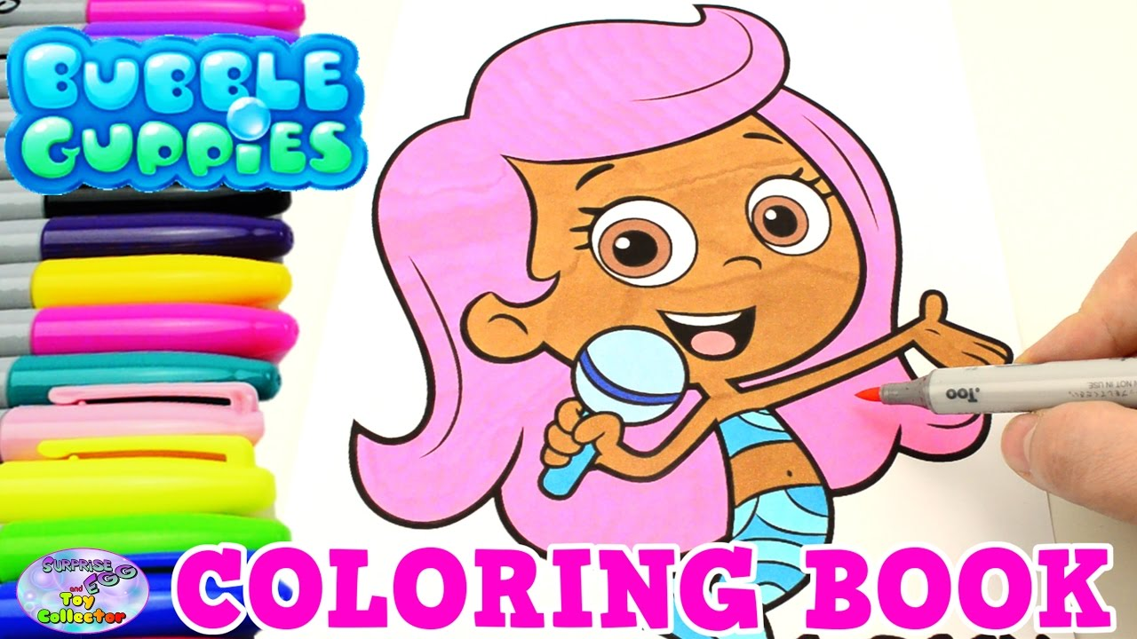 bubble guppies coloring book nick jr show molly mermaid episode surprise egg and toy collector setc