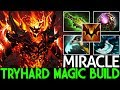 Miracle- [Shadow Fiend] TryHard Full Magic Build Epic 1v5 Gameplay 7.21 Dota 2