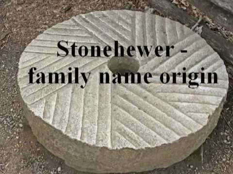 Stonehewer family name origin and meaning