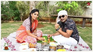 Shoot lo busyga unna Manjula ki #Sankranthi Special lunch tho sweet surprise ichadu Nirupam ������