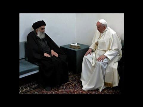 Lo storico incontro del Papa con l'ayatollah sciita al Sistani