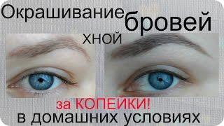 Окрашивание бровей хной за 50 рублей! В домашних условиях! / Worldinside