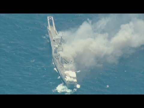 US, Japan Forces Sink Old Warship By Rockets, Missiles And