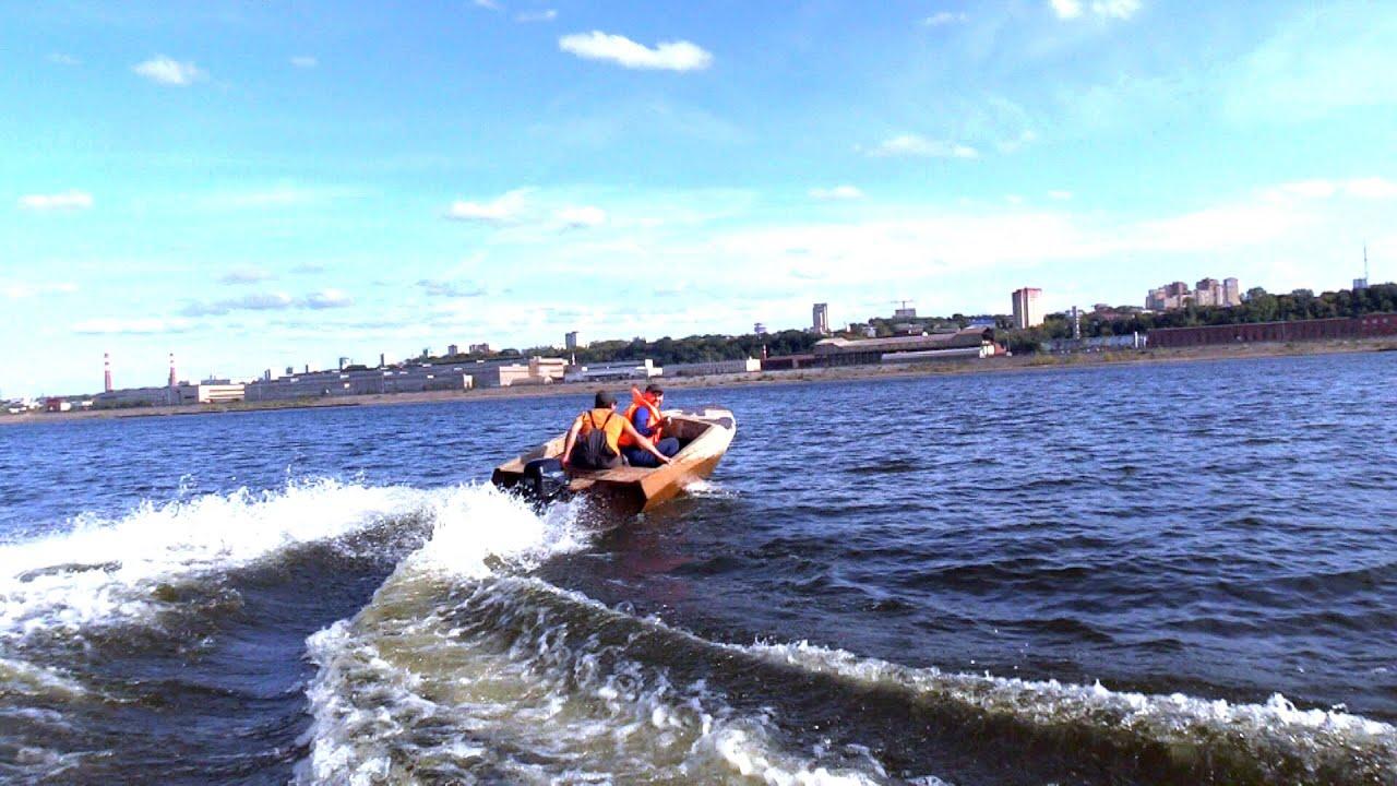 Самодельный катер из пеноплекса пошел вразнос на реке!