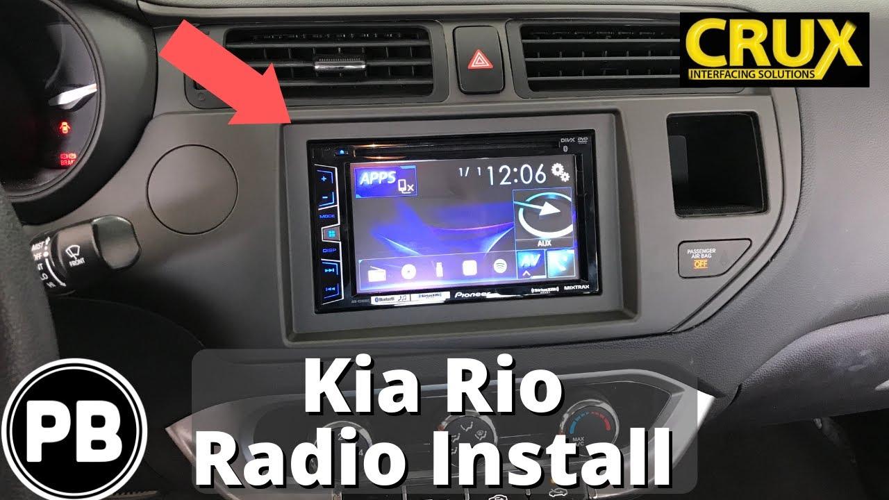2012 2017 kia rio bluetooth stereo install pioneer avh x2800bs [ 1280 x 720 Pixel ]