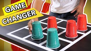 Flip Cup Tic Tac Toe | 6 Ways To Play Flip Tac Toe (Party Game)