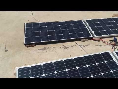 Solar System  (600 watts) Connected with Home UPS (Urdu).