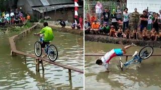 Ngakakk!! Lomba Balap Sepeda 17 Agustusan  Paling Seru, Gokil, Kocak.